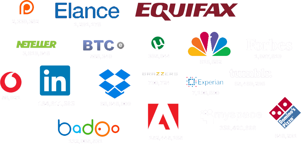 A group of company logos